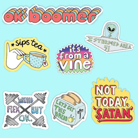 Meme sticker 7 pack
