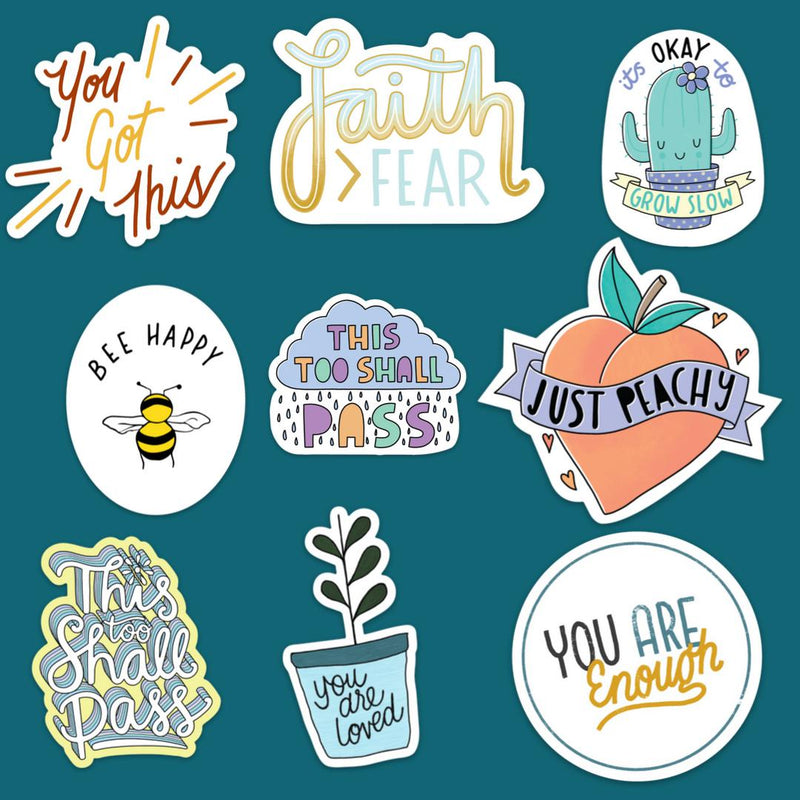 Mental Health Sticker 9 pack