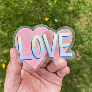 Love - Clear Sticker
