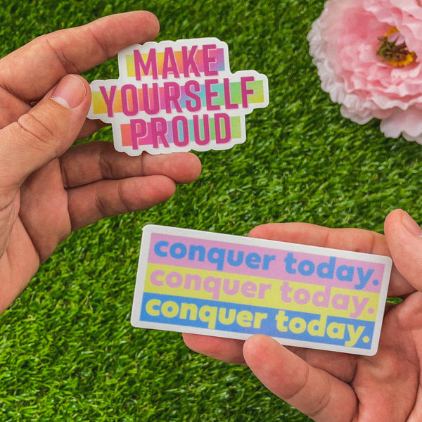 Conquer Today Motivational Sticker