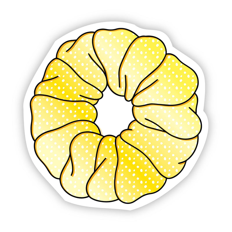 Scrunchie Yellow Aesthetic Sticker