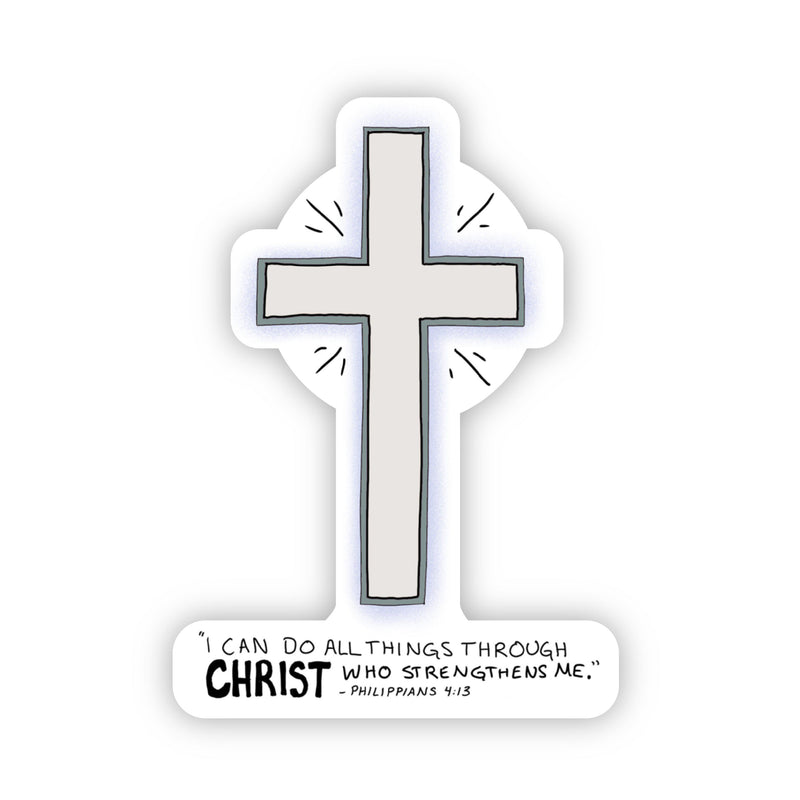 "Cross - ""I can do all things through Christ who strengthens me."" - Philippians 4:13"