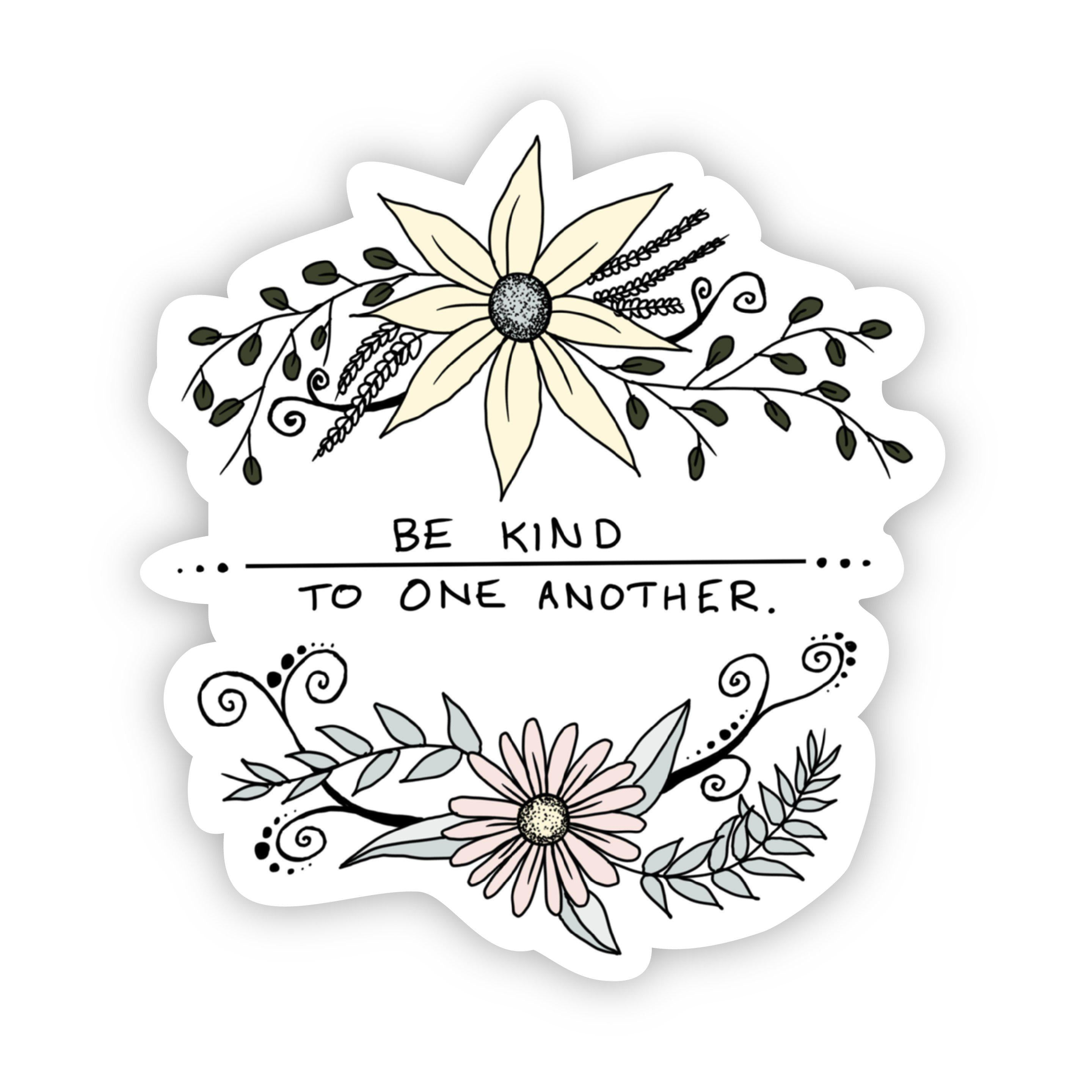 Be Kind to One Another (Floral Faith Sticker)