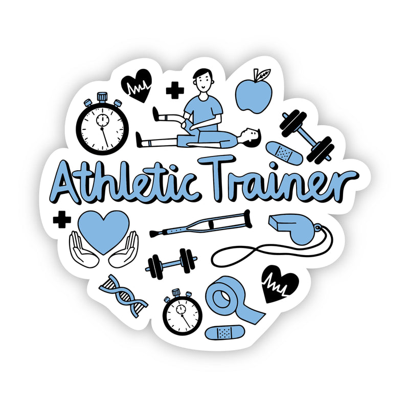 Athletic Trainer Blue Sticker
