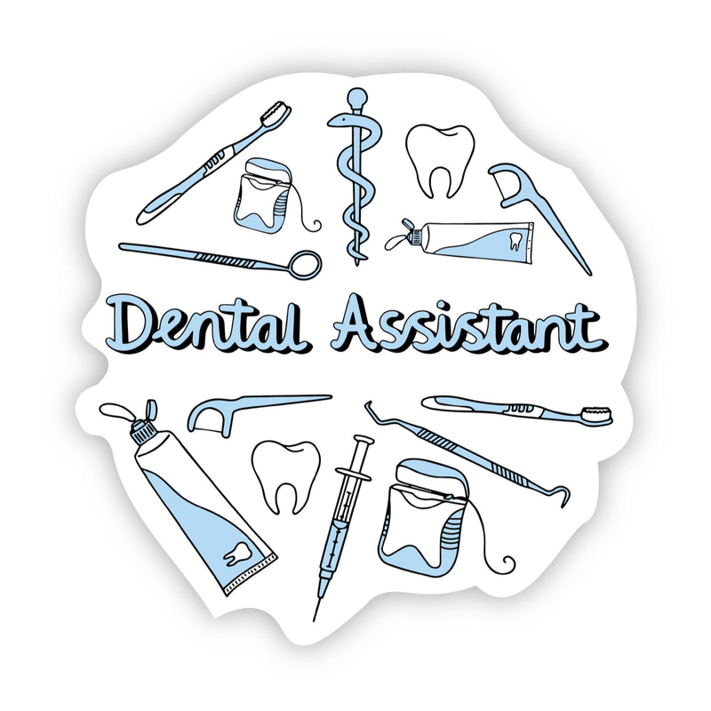 Dental Assistant Blue Sticker