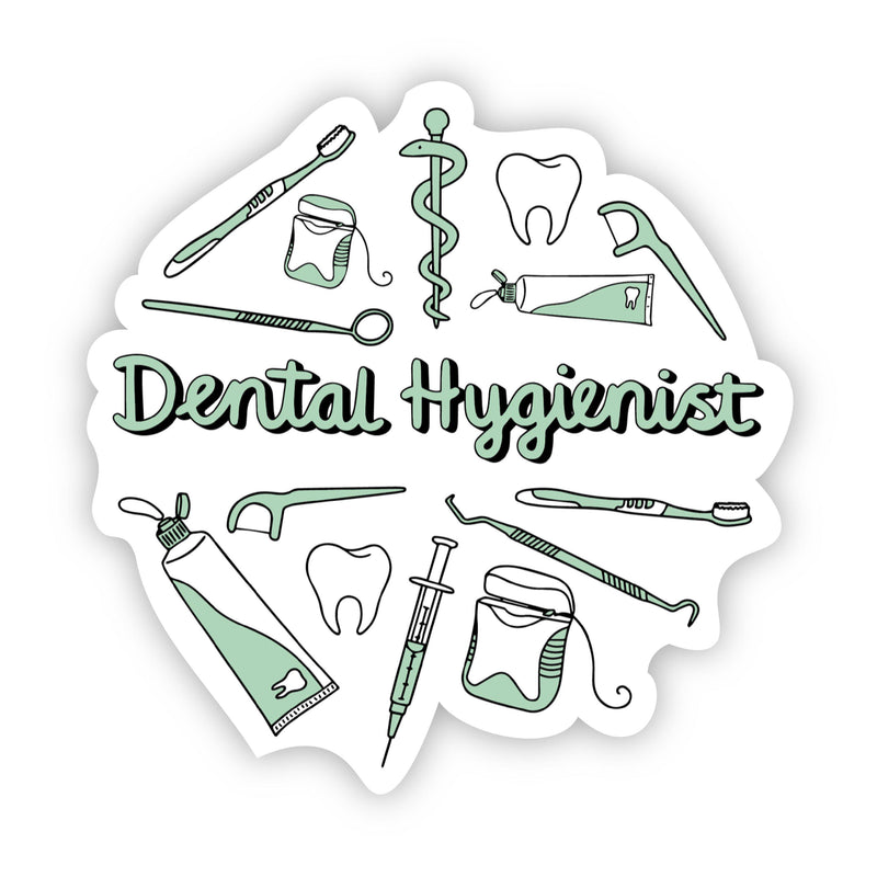 Dental Hygienist Green Sticker