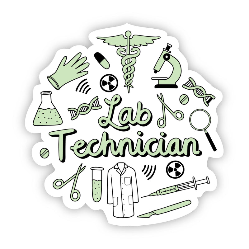 Lab Technician Green Sticker