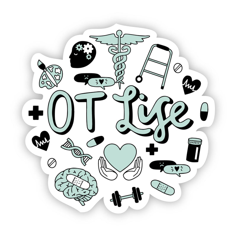 OT Life Green Sticker