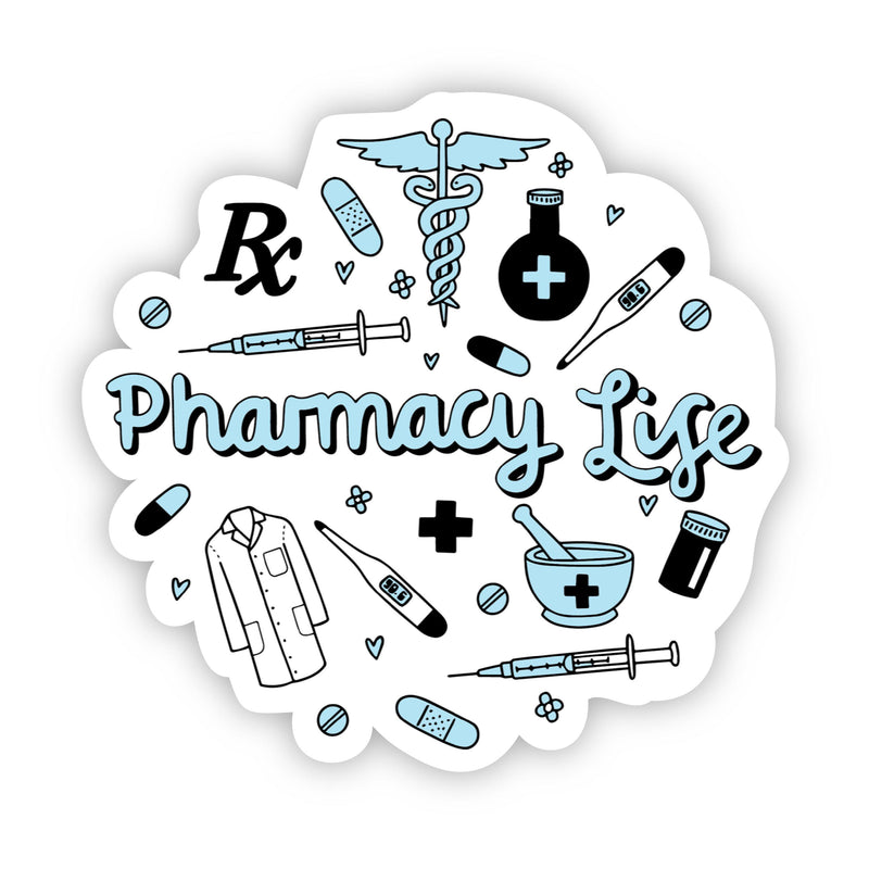 Pharmacy Life Blue Sticker