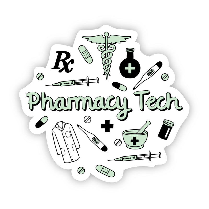 Pharmacy Tech Green Sticker