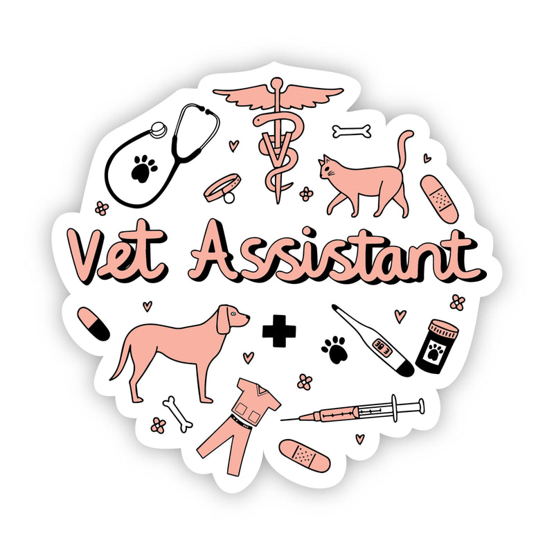 Vet Assistant Sticker