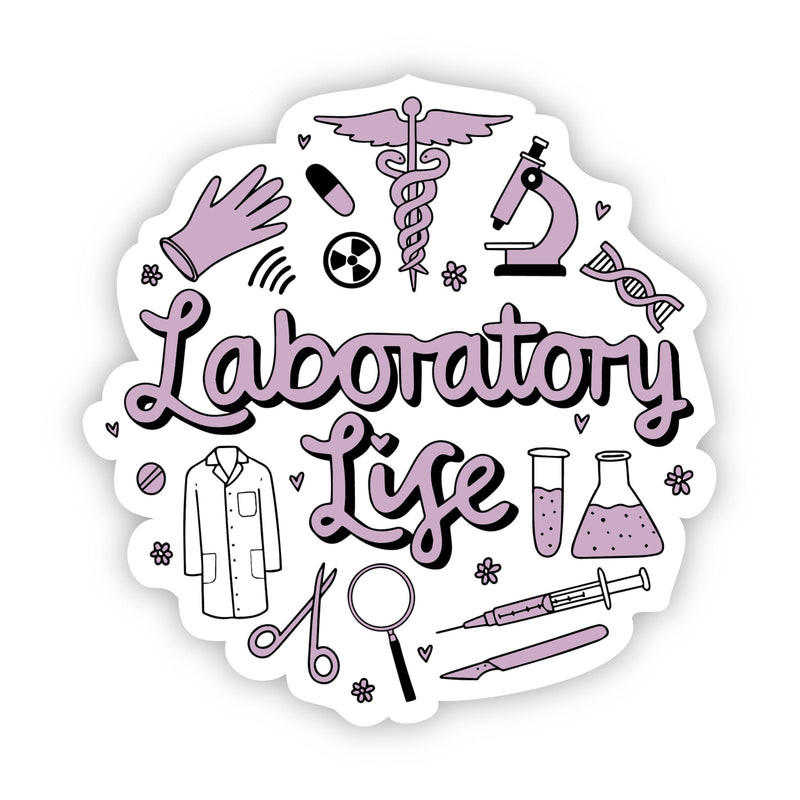 Laboratory Life Purple Sticker