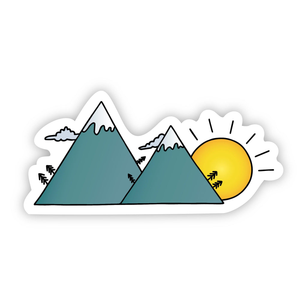Sunset Mountains Sticker