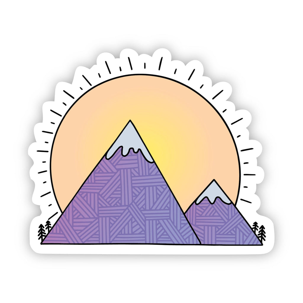 Large sun Purple Mountains sticker