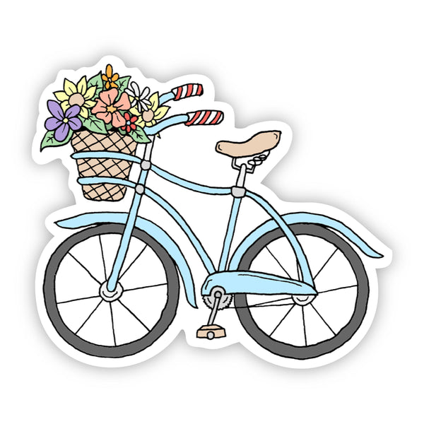 Blue Bicycle Sticker Summer Vibes