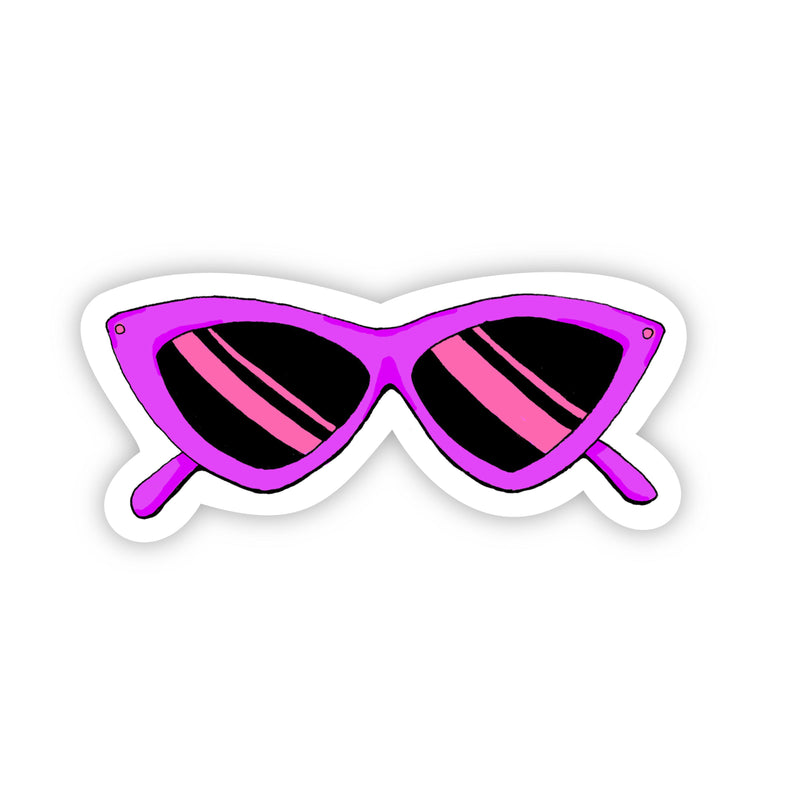 Purple Sunglasses Sticker