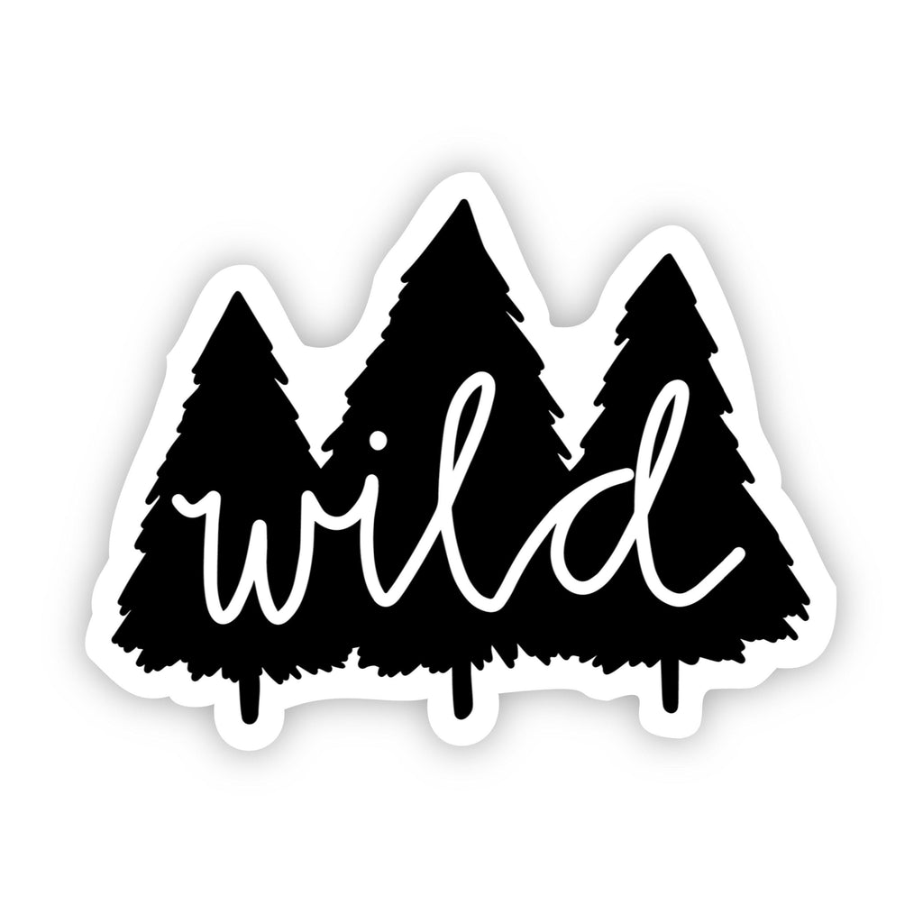 Wild Trees Black and White Nature Sticker