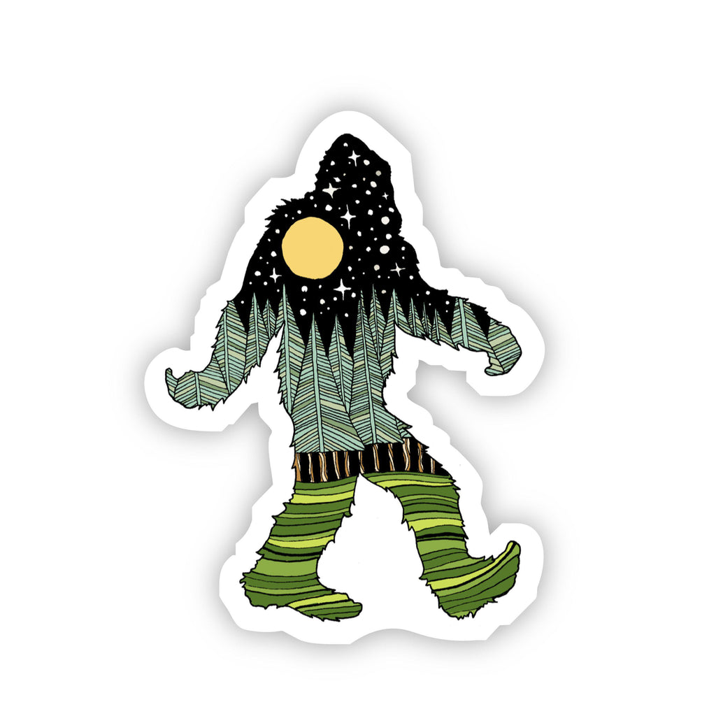 Bigfoot Nature Sticker