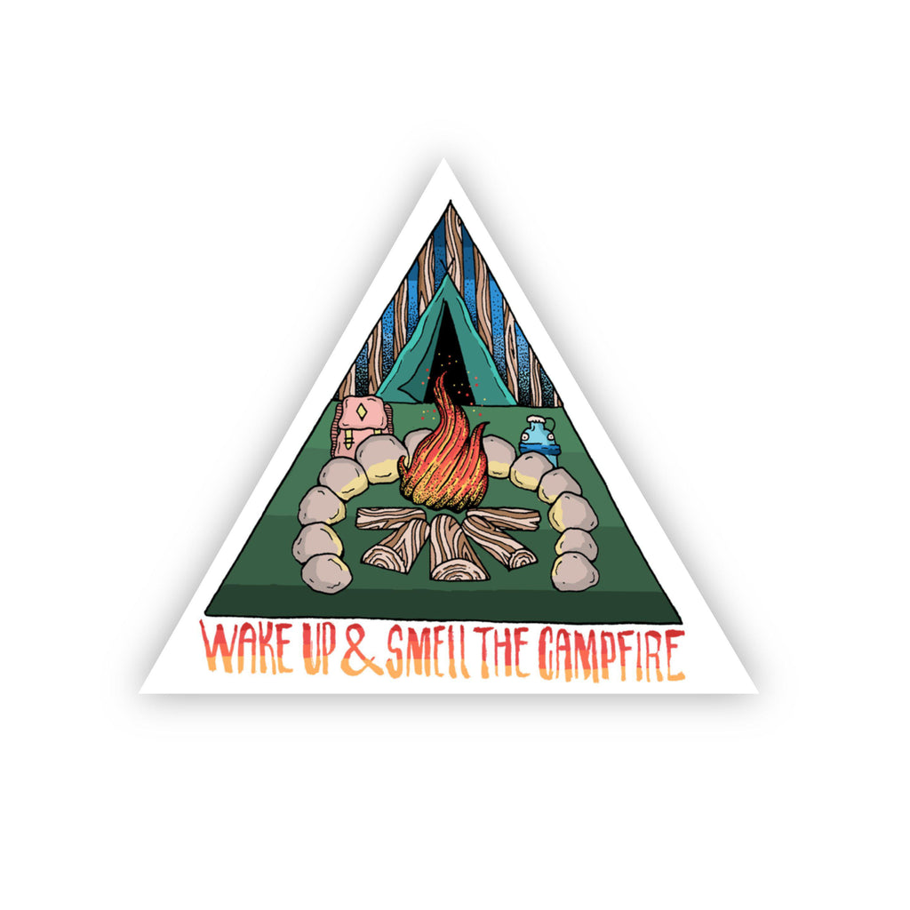 Wake Up & Smell the Campfire Sticker