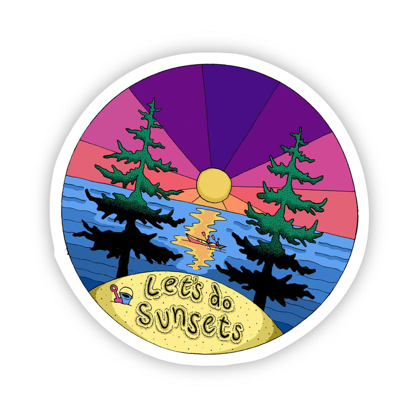 Let's do Sunsets Nature and Hiking Sticker