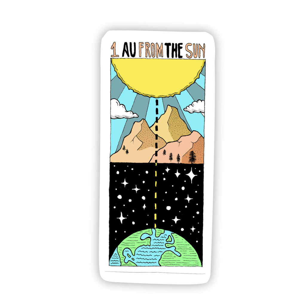 1 AU From the Sun Outerspace Sticker