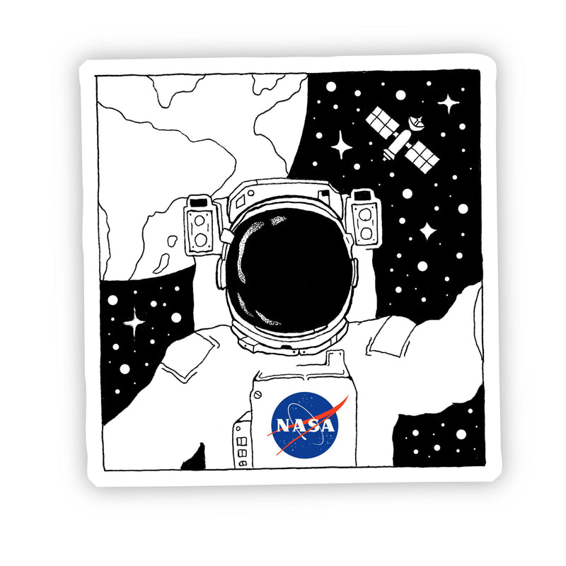 NASA Astronaut Selfie in Space Sticker