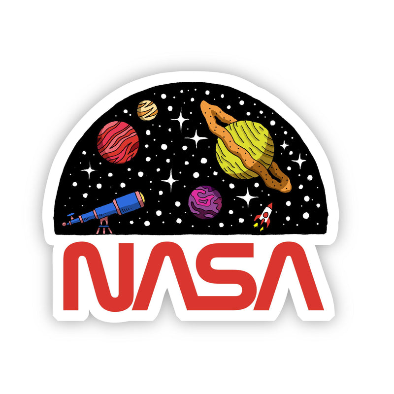 NASA Telescope & Planets Sticker