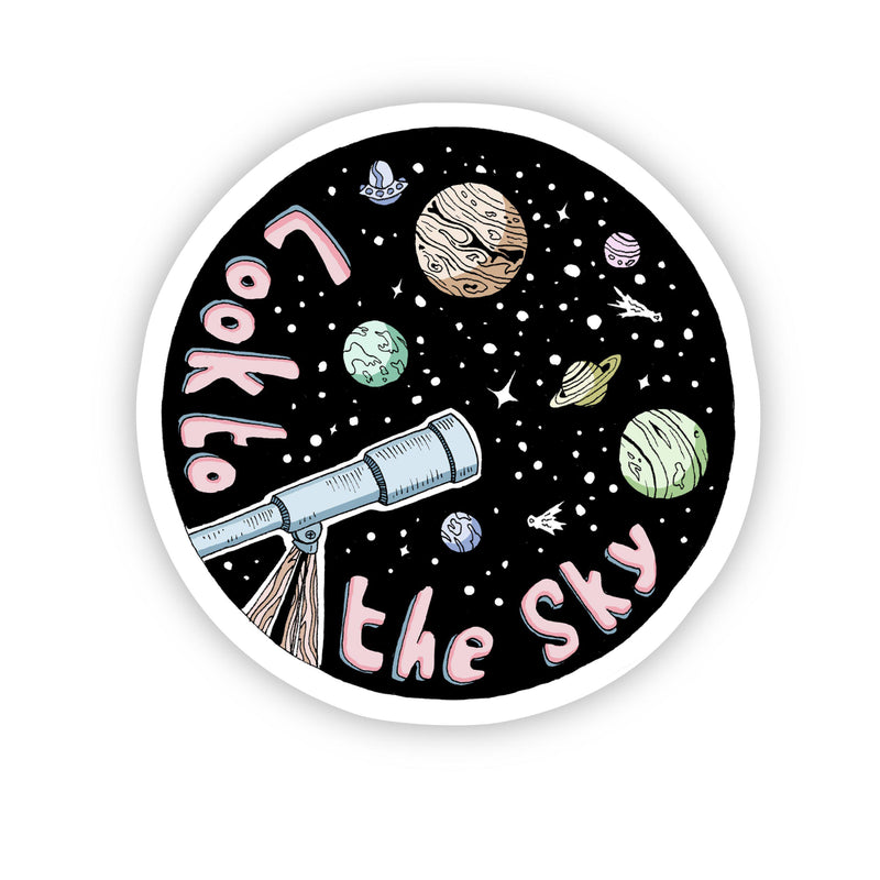 Look to the Sky Galaxy Space Sticker