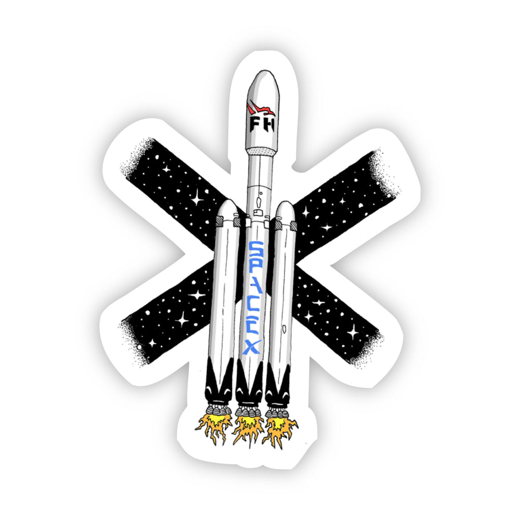 Falcon Heavy SpaceX Sticker