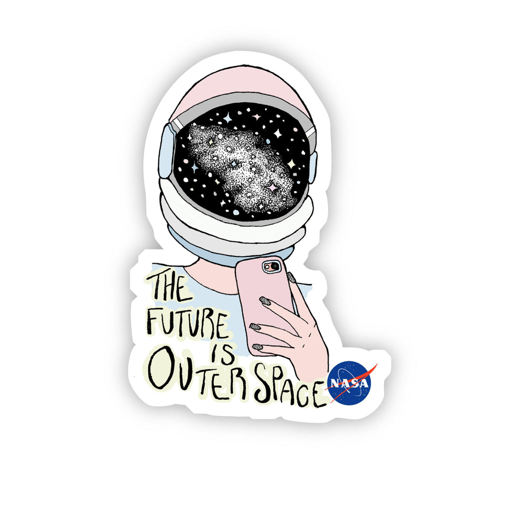The Future is Outer Space NASA Sticker