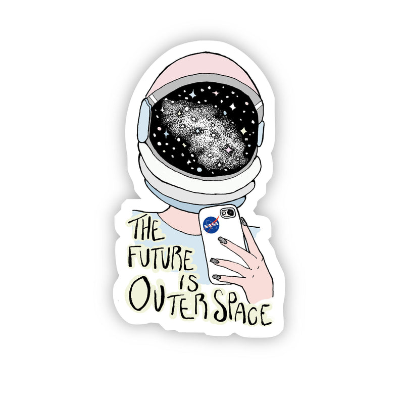NASA The Future is Outer Space Sticker (NASA Logo On Phone Case)