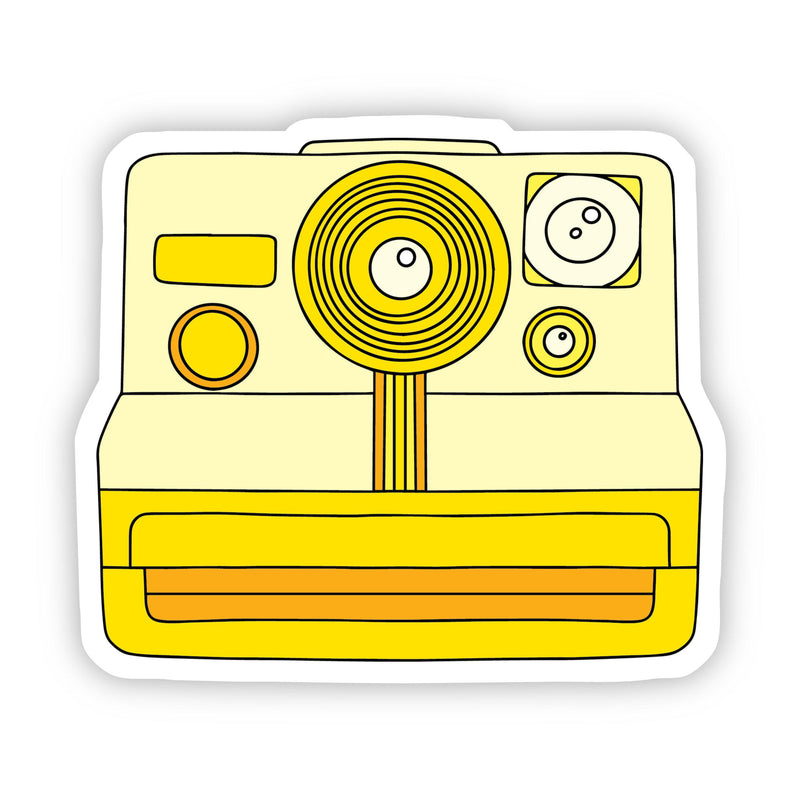 Yellow Camera Aesthetic Sticker