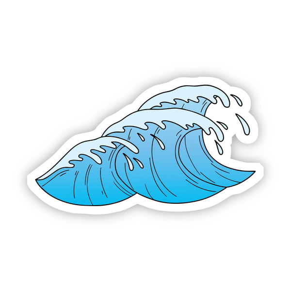 Blue Waves Aesthetic Sticker