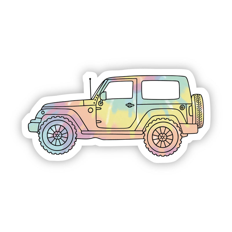 Tie Dye Jeep Aesthetic Sticker