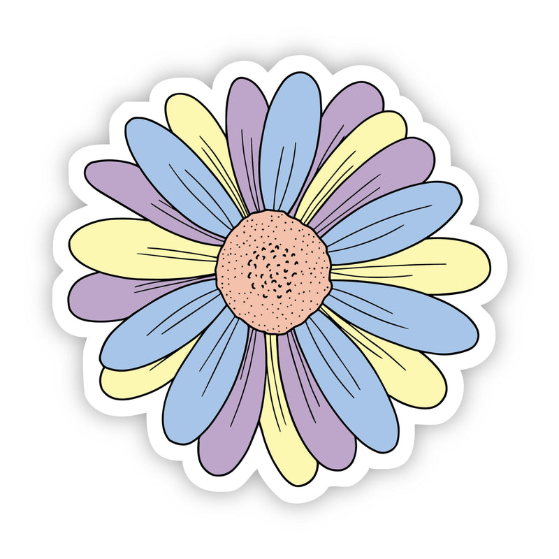 Multicolor Daisy Aesthetic Sticker