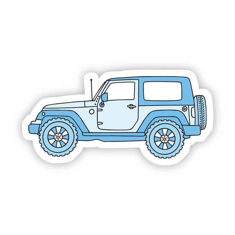 Blue Side Jeep Aesthetic Sticker