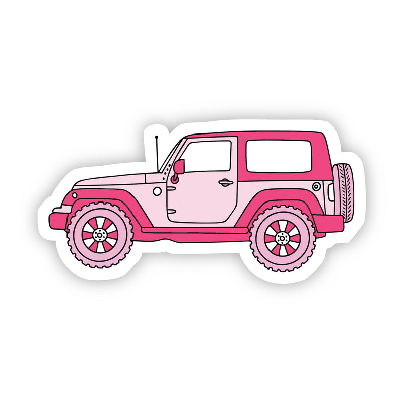 Pink Side Jeep Aesthetic Sticker