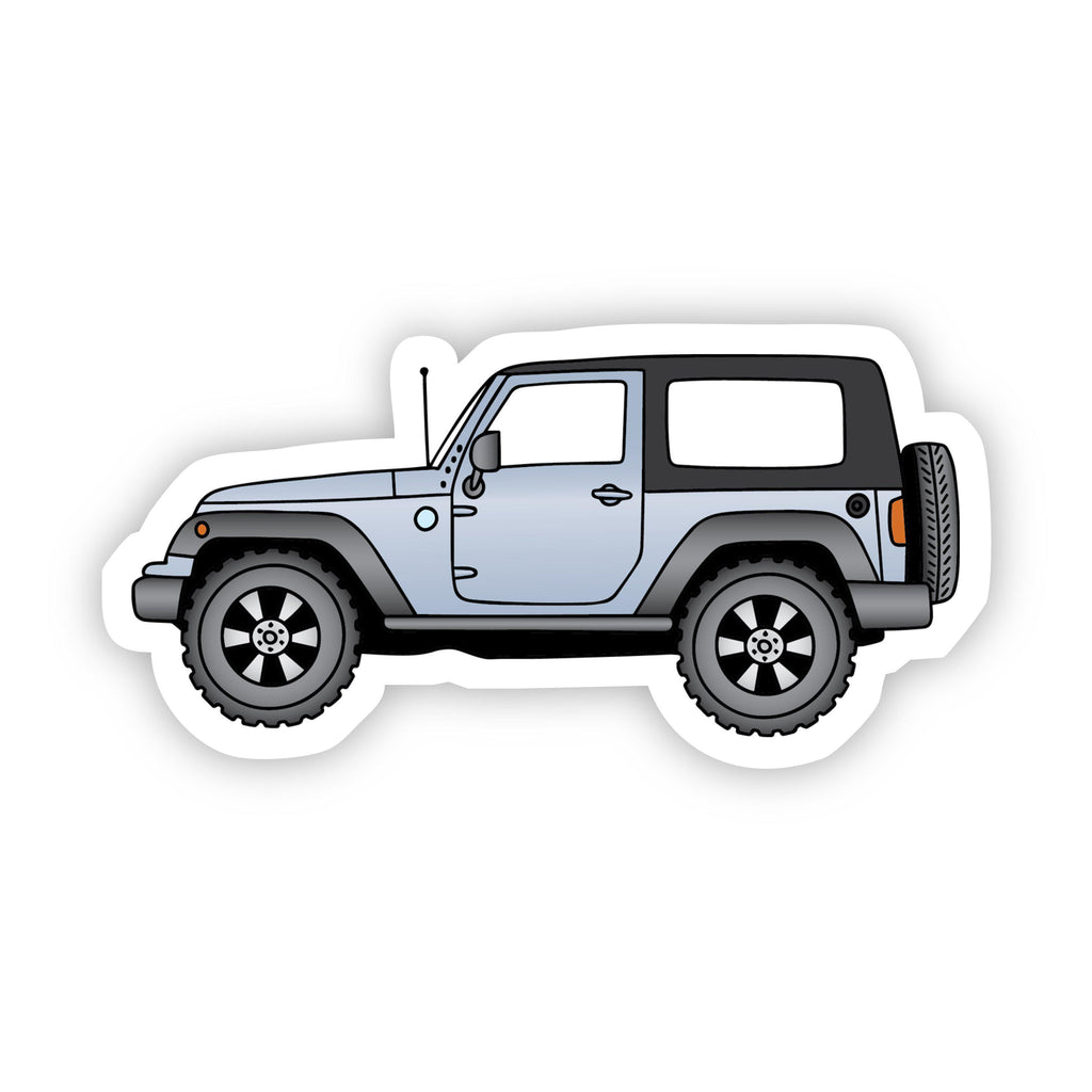 Grey Jeep Side Aesthetic Sticker