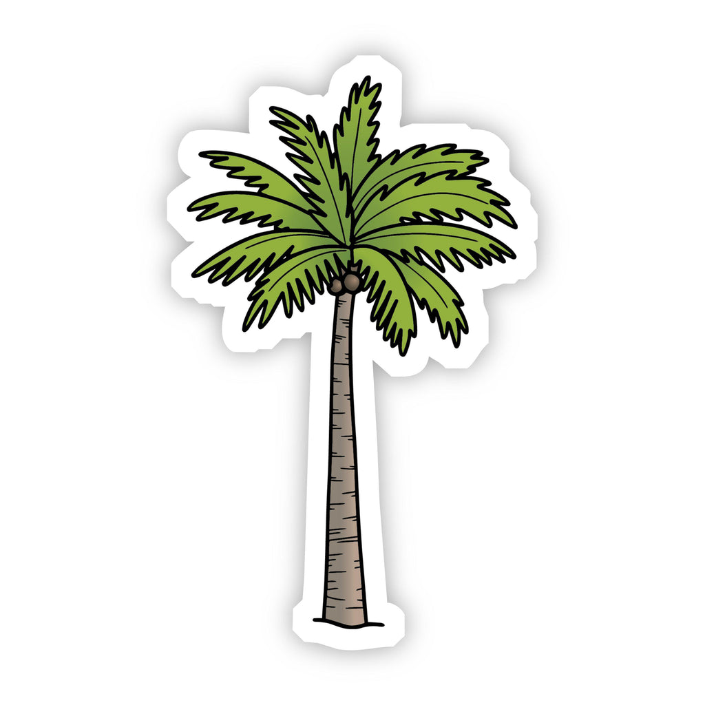 Green Palm Tree Beach Aesthetic VSCO Sticker