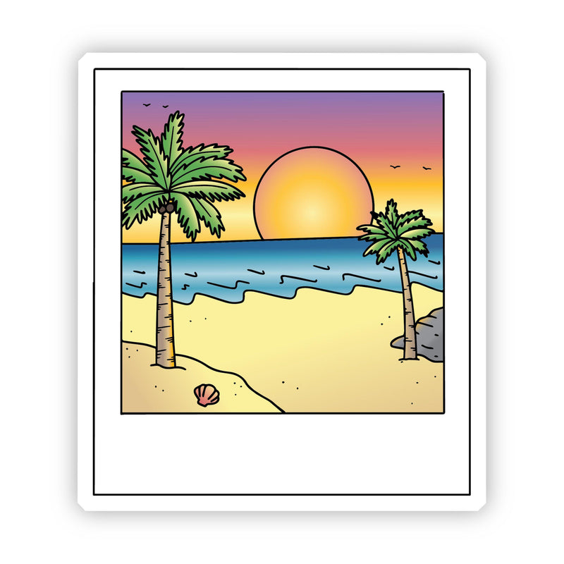 Sunset Polaroid Picture Beach Aesthetic VSCO Sticker