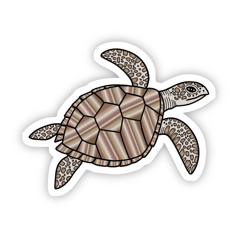 Brown Turtle Aesthetic Sticker