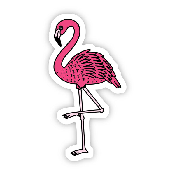 Pink Flamingo Aesthetic Sticker