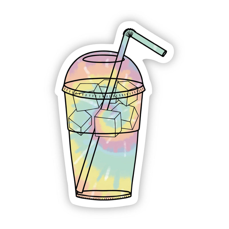 Tie Dye Cup Iced Coffee Aesthetic Sticker