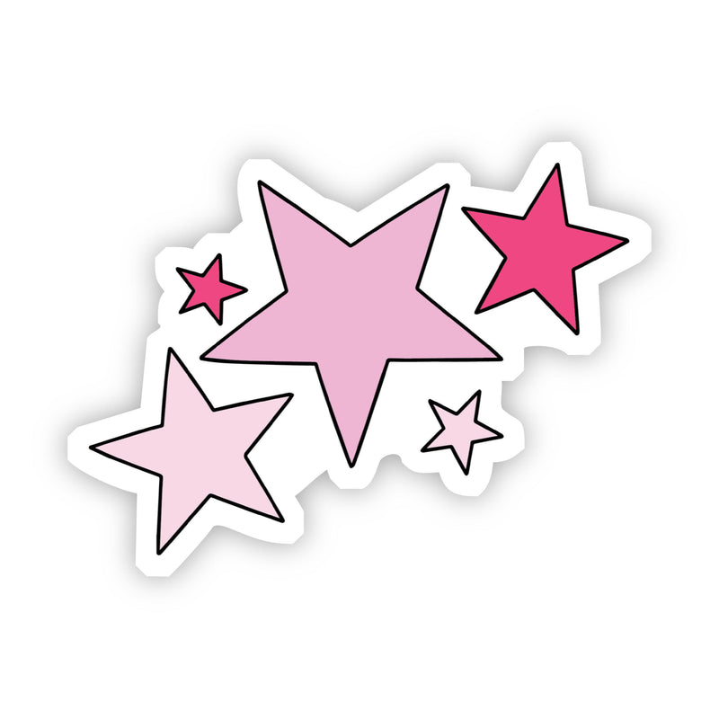 Pink Stars Aesthetic Sticker