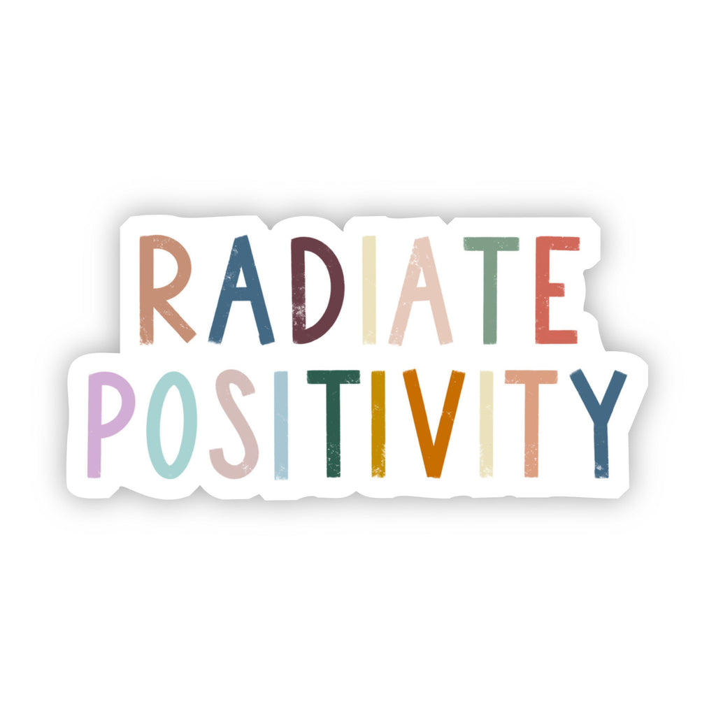 Radiate Positivity Multicolor Lettering Sticker