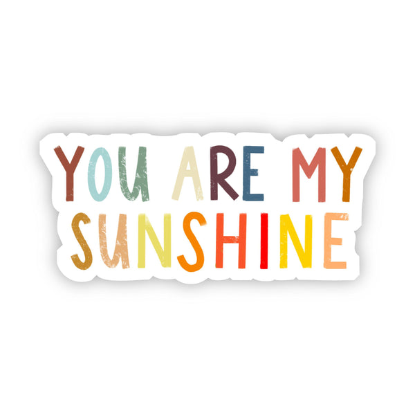You Are My Sunshine Multicolor Sticker