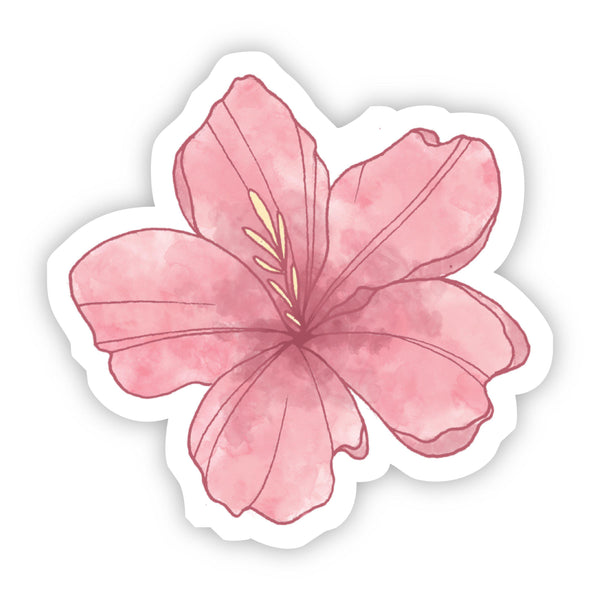 Pink Flower Watercolor Sticker