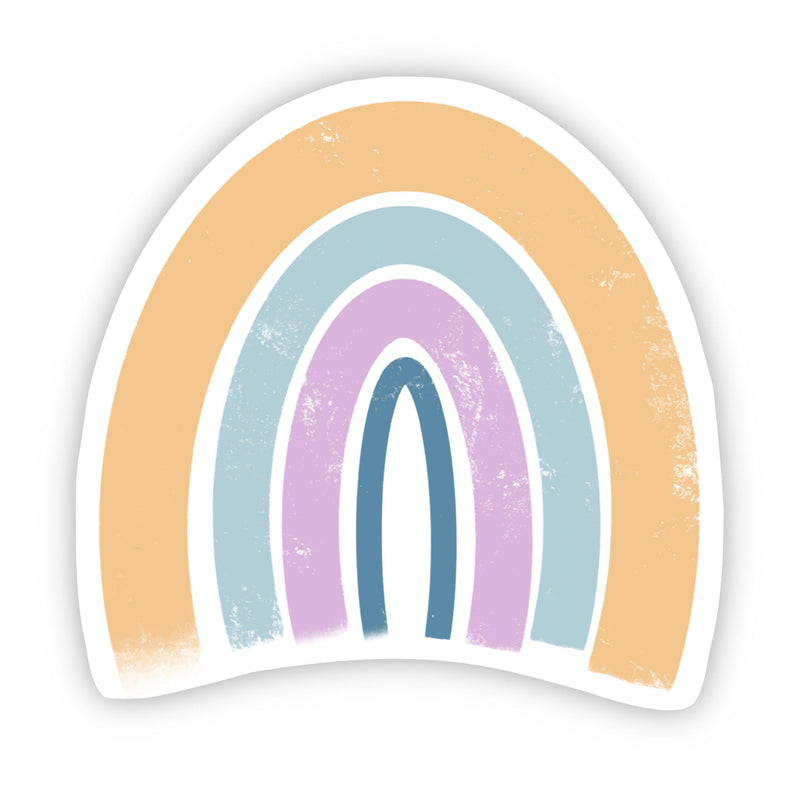 Yellow, Teal, Pink, Blue Rainbow Sticker