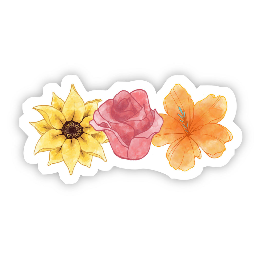 Multiple Flowers Watercolor Sticker