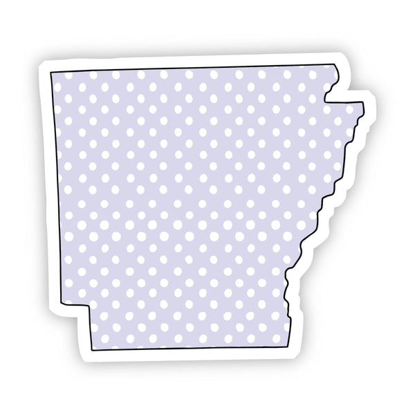 Arkansas Polka Dot Sticker